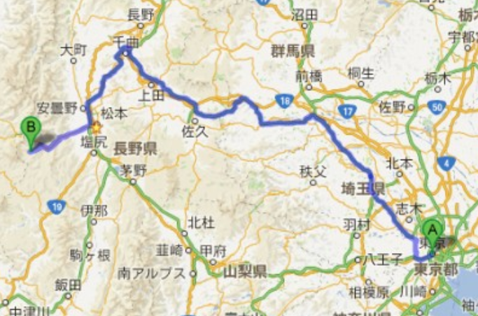 Getting Here from Tokyo