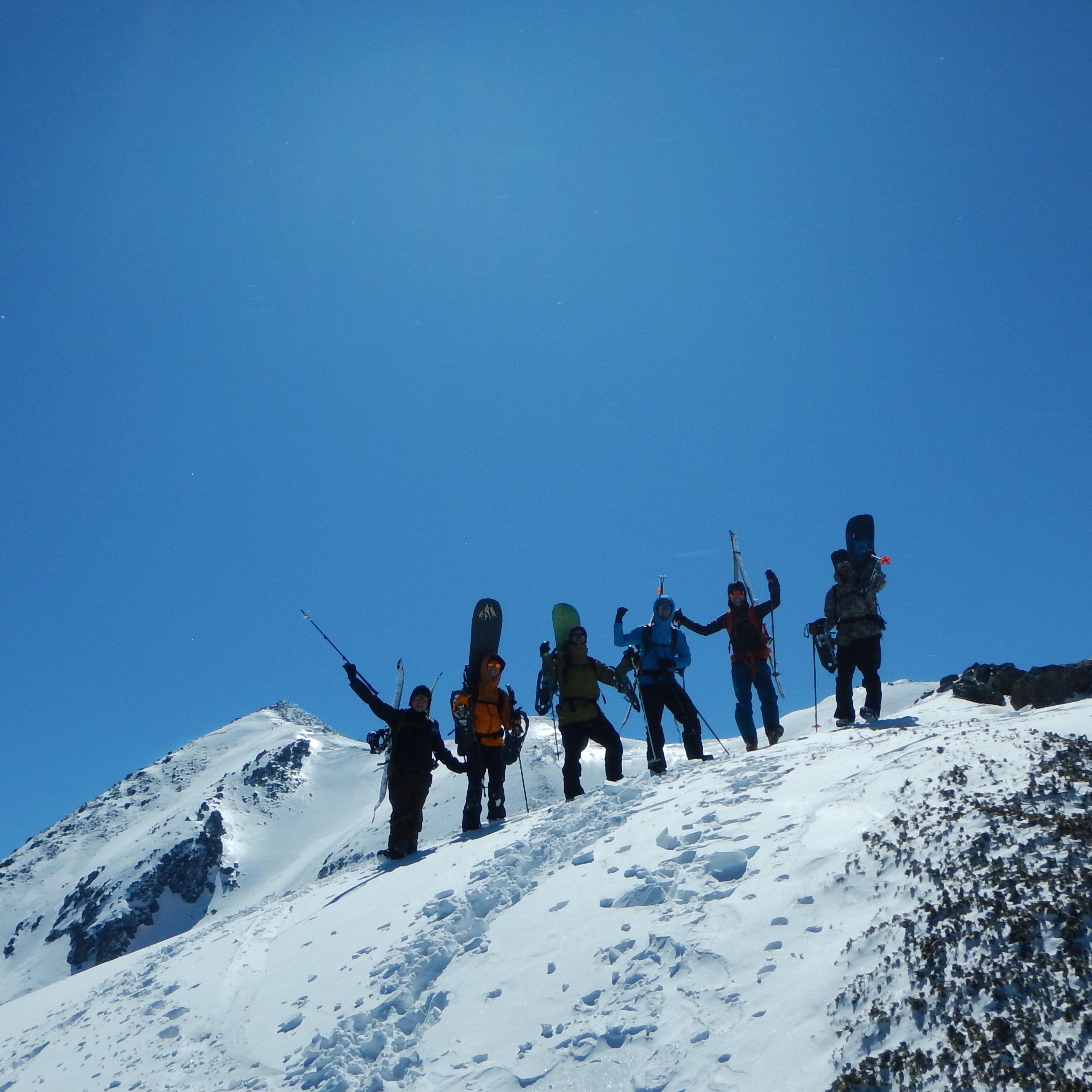 バックカントリー 富士見岳登頂